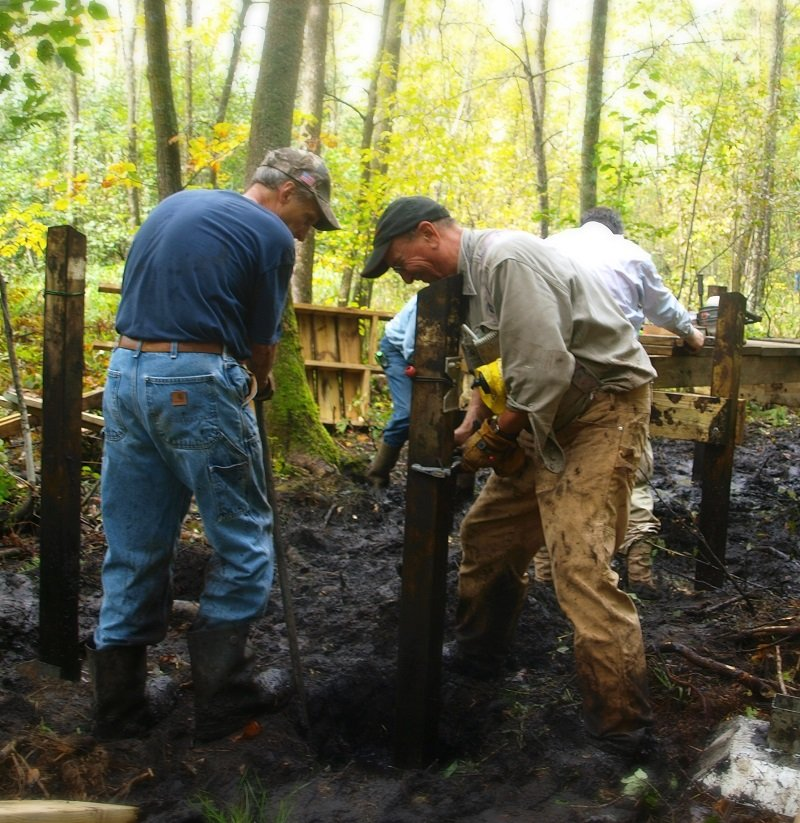 Ice Age Trail Alliance, Ice Age National Scenic Trail, Polk County Mobile Skills Crew project 2016