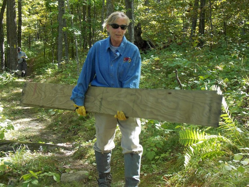 Ice Age Trail Alliance, Ice Age National Scenic Trail, Polk County Mobile Skills Crew project 2016, boardwalks on the Trail