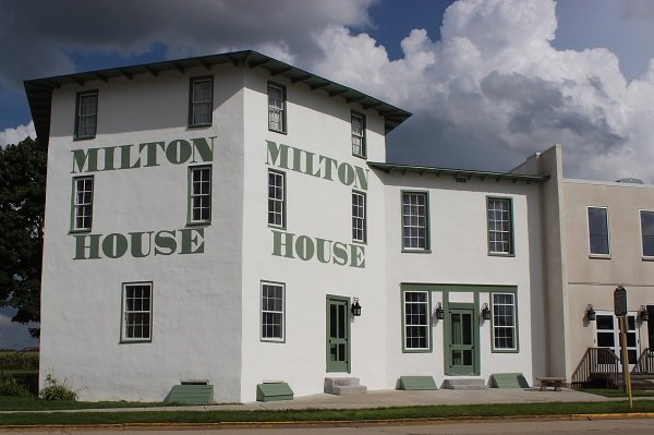 An iconic building in the heart of Milton once part of the Underground Railroad-Photo by Milton House Museum