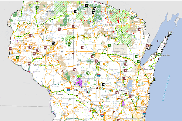 Ice Age Trail Alliance, Ice Age National Scenic Trail, DNR Public Land Access Map