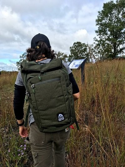 Ice Age Trail Explorer Backpack on a hike!