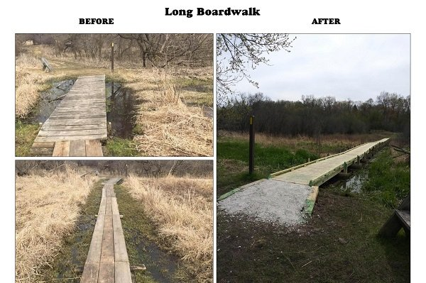 R-Long Boardwalk before and after