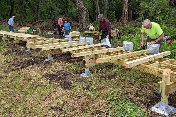Ice Age Trail Alliance, Ice Age National Scenic Trail, Ice Age Trail, Reconnect, Mobile Skills Crew, Trailbuilding, Boardwalk building