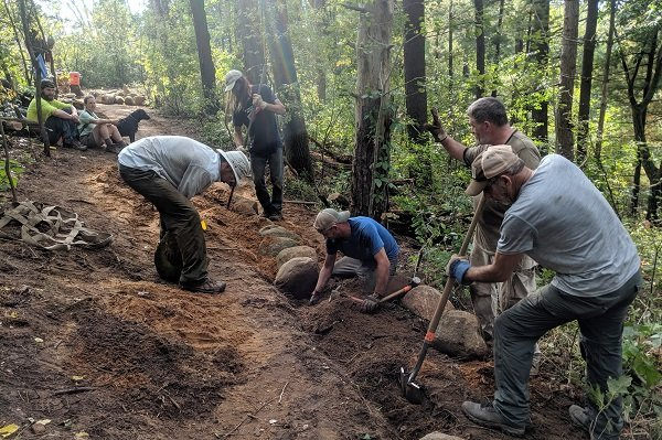 Ice Age Trail Alliance, Bohn Lake Mobile Skills Crew Project, MSC 2019, Ice Age National Scenic Trail